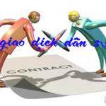 Quy định về giao dịch dân sự của Bộ luật dân sự 2015