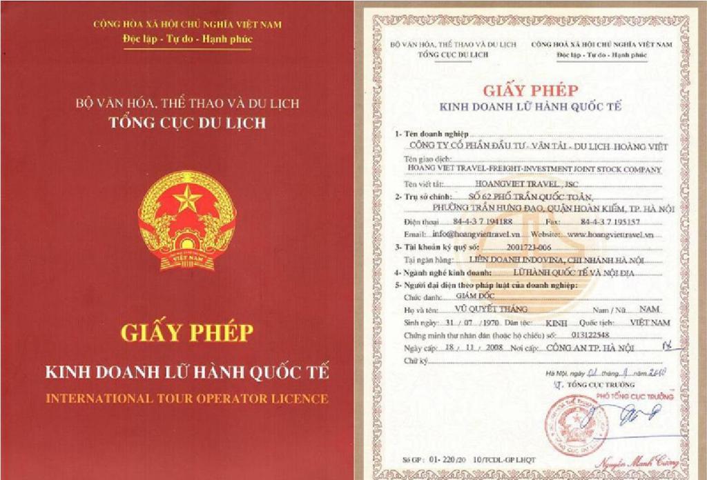 Thủ tục cấp giấy phép kinh doanh lữ hành quốc tế