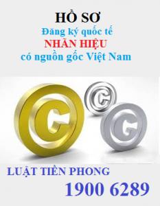 Hồ sơ đăng ký quốc tế nhãn hiệu có nguồn gốc Việt Nam