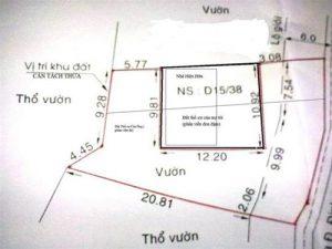 Diện tích được cấp sổ đỏ ở Hà Nội là bao nhiêu?