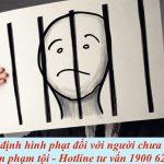 Quyết định hình phạt đối với người chưa thành niên phạm tội