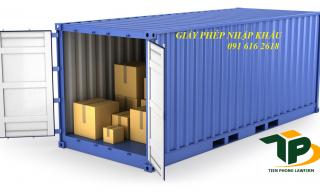 Hồ sơ xin cấp giấy phép nhập khẩu hàng hóa